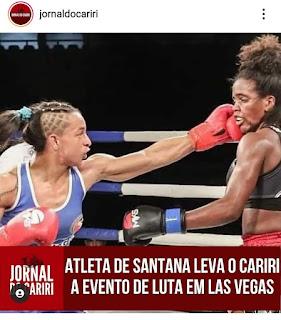 Atleta de Santana leva o Cariri a evento de luta em Las Vegas