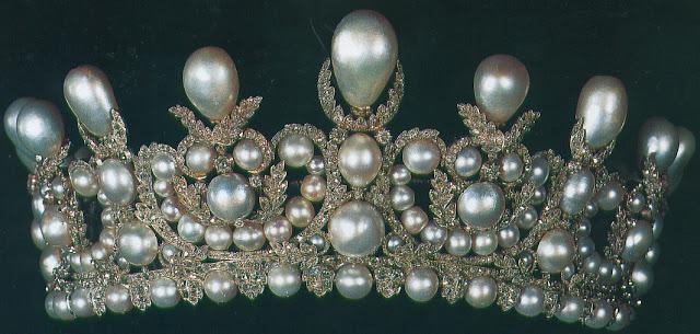 Empress Eugénie of France's Pearl Diadem Lemonnier