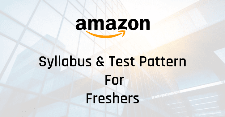 Amazon Syllabus 2021 & Test Pattern