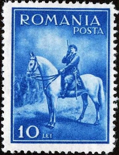 ROMANIA 1932 KING CAROL II on HORSE