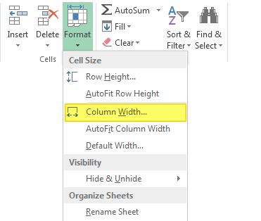 Mengatur Lebar Kolom pada Excel