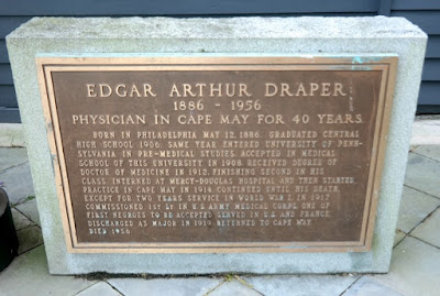 Edgar Arthur Draper Historical Marker in Cape May, New Jersey