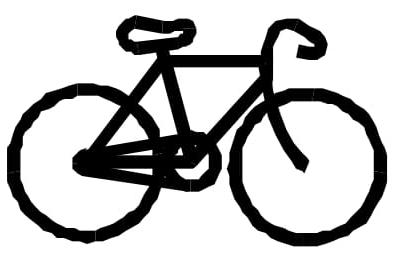 As bicicletas possuem uma corrente que liga uma coroa dentada dianteira, movimentada pelos pedais, a uma coroa localizada no eixo da roda traseira, como mostra a figura