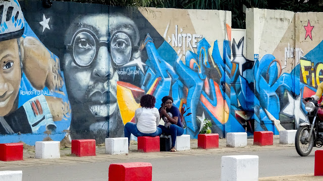 Many graffity all over the streets in Cotonou