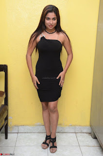 Vrushali Gosavi in strapless Short Black Dress At Follow Follow U Audio Launch 067.JPG