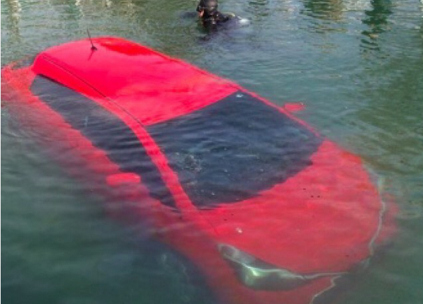 canadian woman drives her car into a lake following her gps directions