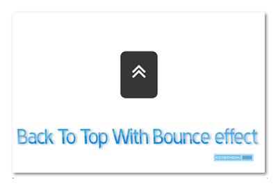 """ব্লগার ব্লগে যুক্ত করুন """" উপরে ফিরুন """" ( Back to Top ) বাটন সঙ্গে বাউন্স ইফেক্ট !!"""