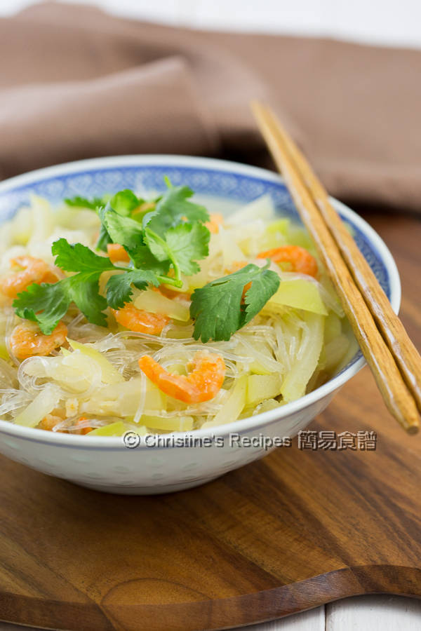 Hairy gourd Vermicelli and Dried Shrimps02