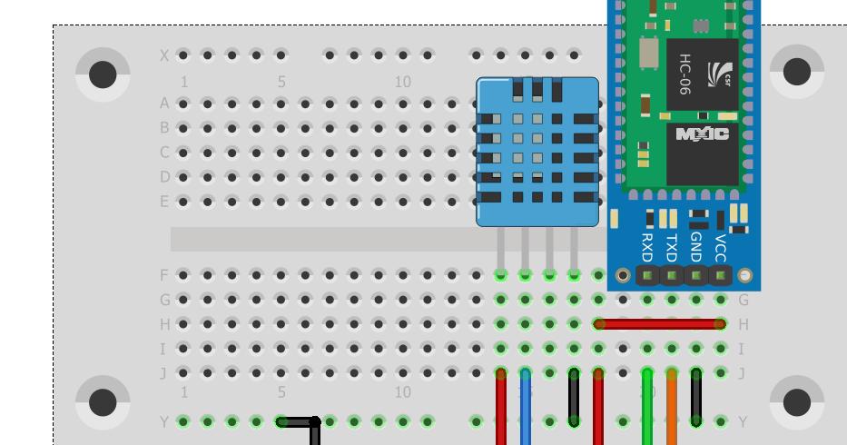 Arduino a muete proyecto android temperatura y