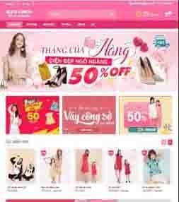 Mẫu template blogspot bán hàng thời trang