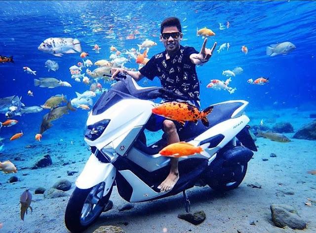 foto motor di bawah air umbul ponggok