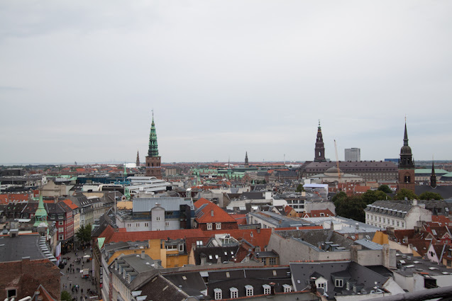 Panorama dalla torre rotonda elicoidale-Copenhagen