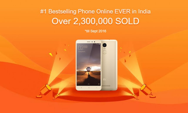 Xiaomi Redmi Note 3 Is Now India's #1 Bestselling Online Phone
