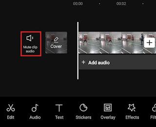 mute clip audio