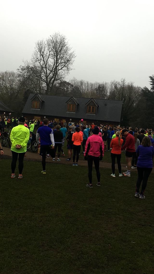 Runners at Rickmansworth Parkrun