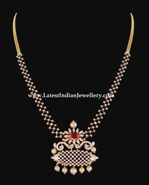 Simple Diamond Necklace by Yuvika