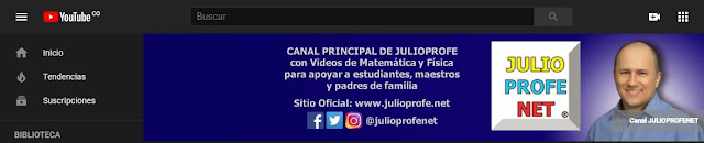 JulioProfe Canal de Youtube