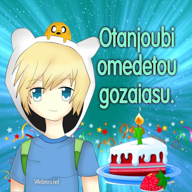 Otanjoubi omedetou gozaiasu. Feliz cumpleaños en japonés