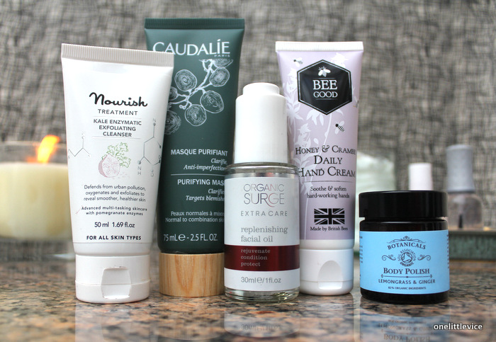 one little vice beauty blog: luxury beauty products from Caudalie, Nourish, Organic Surge, Bee Good and Botanicals