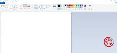 1. Langkah pertama silakan kalian buka aplikasi Paint lalu pilih ikon A