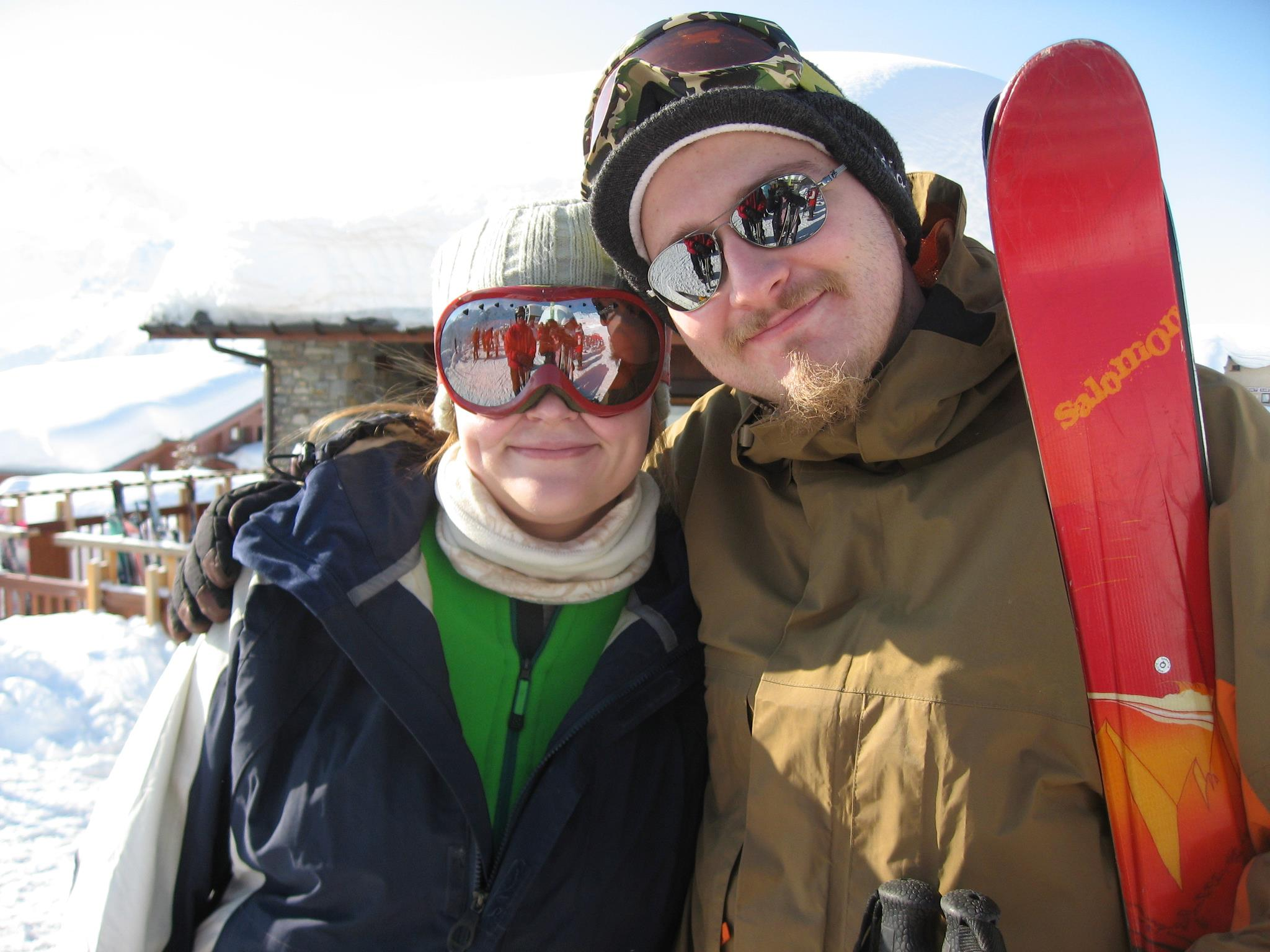 me and david at la rosiere