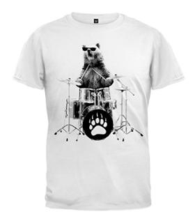 cutest bear drummer tshirt