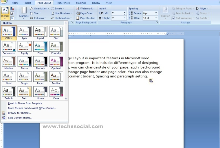 how to use page layout features in ms word  a microsoft