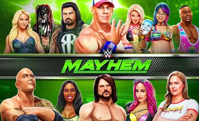 تحميل لعبة wwe mayhem apk  مهكرة آخر إصدار