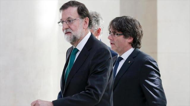 Puigdemont: Rajoy usa cloacas para vulnerar el Estado de derecho