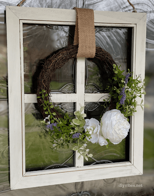 Easy DIY spring grapevine wreath