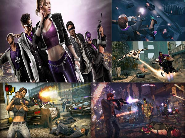 saints row the third jogo igual a gta
