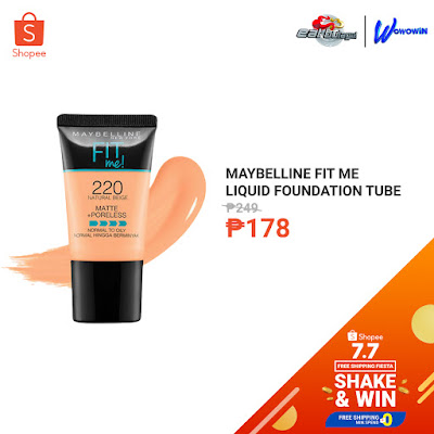 Maybelline Fit Me Matte+Poreless Liquid Foundation Tube