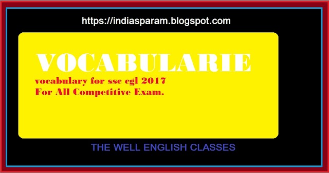 Essential on the map vocabulary for many competitive exams-It is taken from News paper