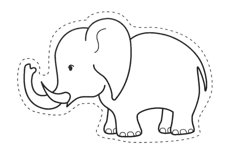 Muitos Desenhos, Moldes E Riscos De Elefante Para Pintar