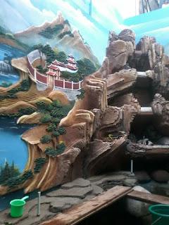 kolam dekorasi tebing