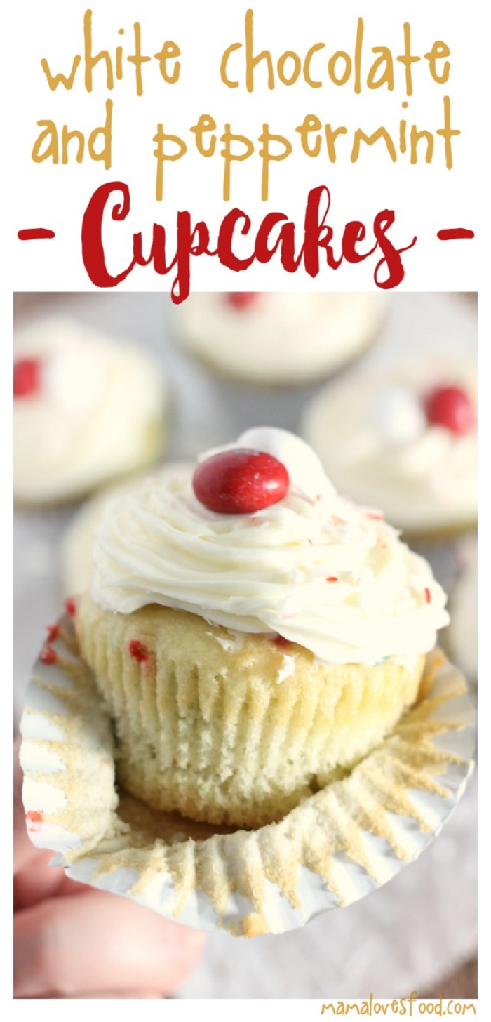 White Chocolate & Peppermint Cupcakes
