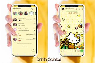 Amarelo Hello Kitty Theme For YOWhatsApp & Fouad WhatsApp By Driih Santos