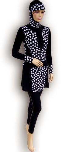 Contoh desain baju renang muslimah