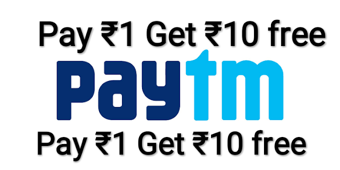 Pay 1 and get 10 in Paytm Wallet  | EverythingNew Offer