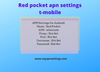 red pocket apn settings t-mobile