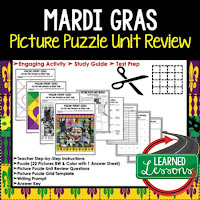 Mardi Gras Activities, Louisiana History, Interactive Cut and Paste
