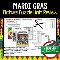 Mardi Gras Activities, Louisiana History, Interactive Cut and Paste