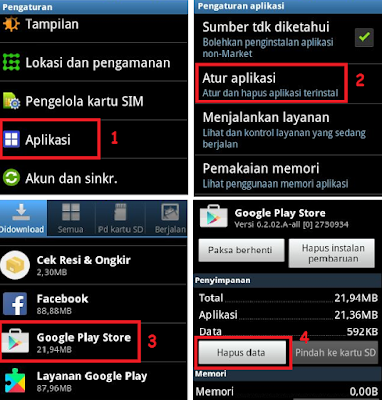 memperbaiki error google play store