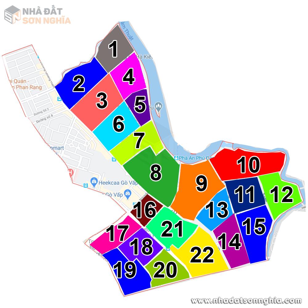 Bản đồ lộ giới hẻm phường 5 quận Gò Vấp