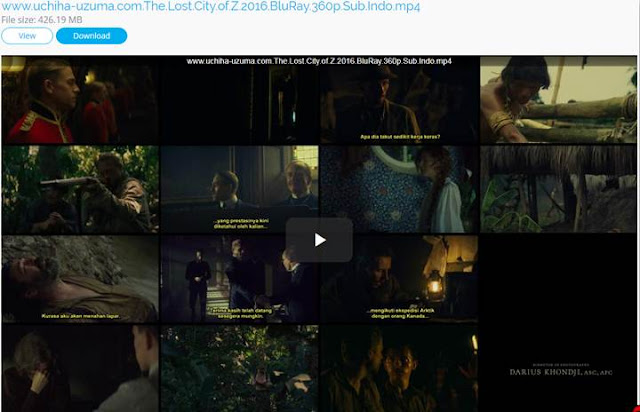 Screenshots Film Gratis The Lost City of Z (2016) BluRay 360p Sub Indo 3gp