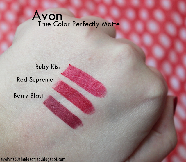 Avon True Color Berry Blast Red Supreme Ruby Kiss