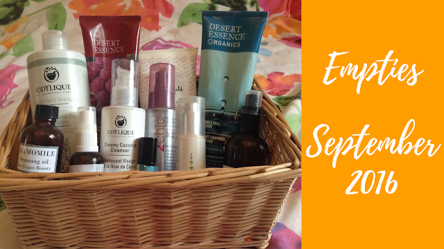 Video Empties September 2016 - Natural and Organic Skincare