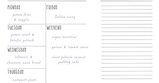 Weekly Meal Plan CW 21