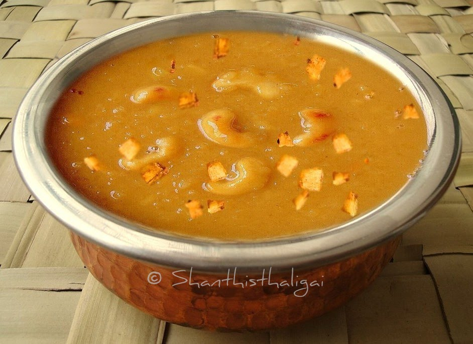How to make Parippu pradhaman, How to make cherupayar parippu pradhaman,How to make Kerala parippu payasam