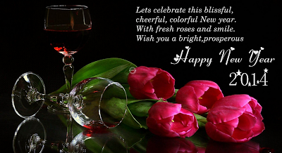 Lets celebrate this blissful, cheerful, colorful New year, With fresh roses and smile, Wish you a very bright prosperous New year